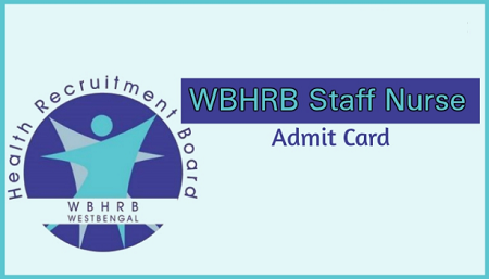 WBHRB Staff Nurse Admit Card Download