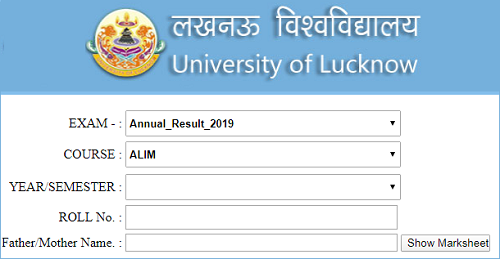 Lucknow University Result