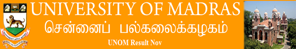 Madras University Result Nov