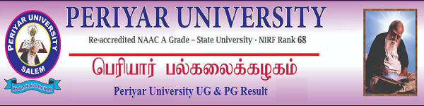 Periyar Univrsity Result Nov