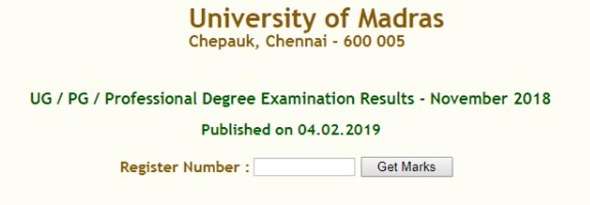 UNOM Result November 2020 Date and Time