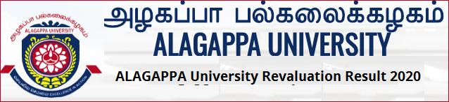 Alagappa University Revaluation Result 2020