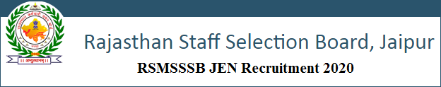 RSMSSB JEN Recruitment