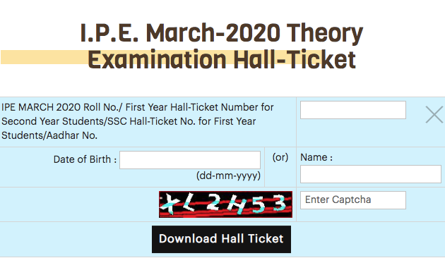 bieap inter 1st year hall tickets 2020