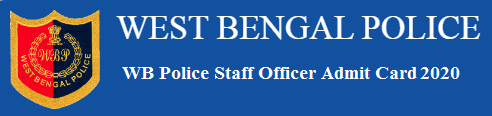 WB Police Admit Card for Staff Officer