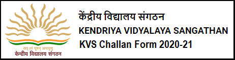 KVS Challan From 2020 and Payment Receipt