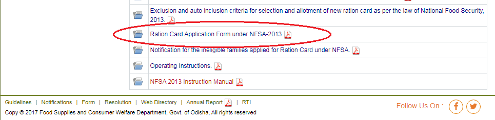 Odisha Ration Card online apply 2020