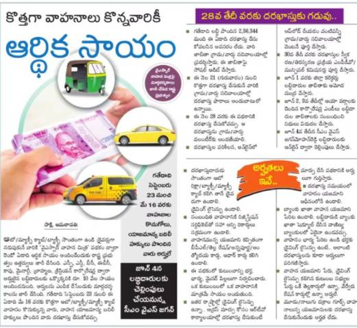 AP vahana mitra Scheme registration application form