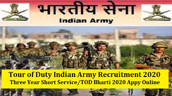 Tour of Duty Indian Army Vacancy 2020