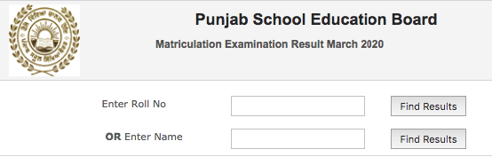 www.pseb.ac.in 10th Class Result 2020