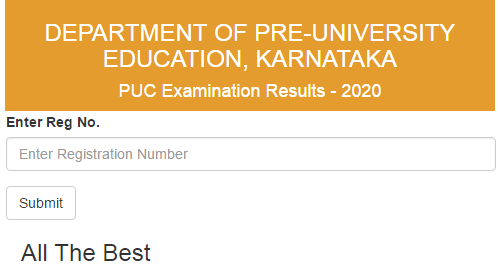 www.Pue.kar.nic.in 2020 Result Second PUC