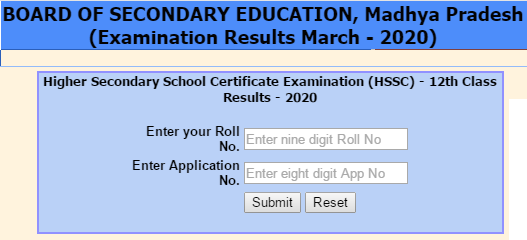 www.mpbse.nic.in 2020 Result Class 12th