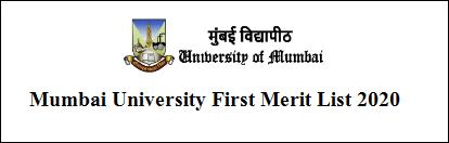 Mumbai University 1st Merit List 2020