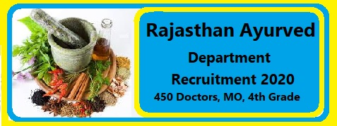 Rajasthan Ayurved Doctor Recruitment 2020