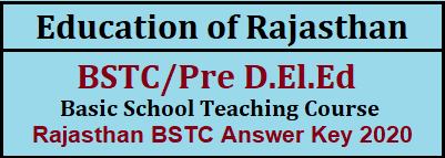 Rajasthan- Pre Deled -Answer-Key-2020