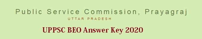 UPPSC BEO Answer Key 2020