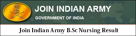 Join Indian Army B.Sc Nursing Result 2020