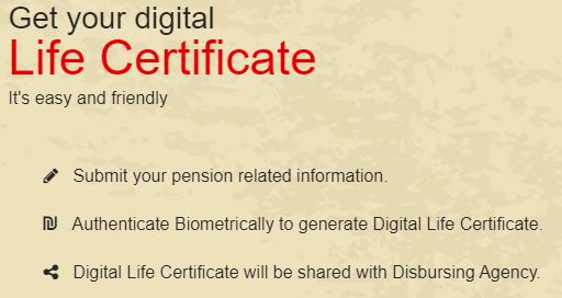 Get Digital LIfe Certifiate for Pensioners