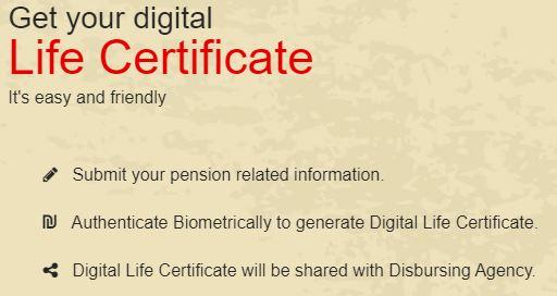 Get Digital LIfe Certifiate for Pensioners