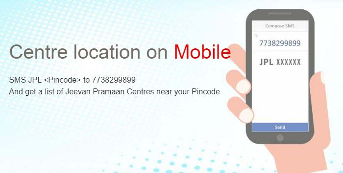 Jeevan Pramaan Center Location On Mobile