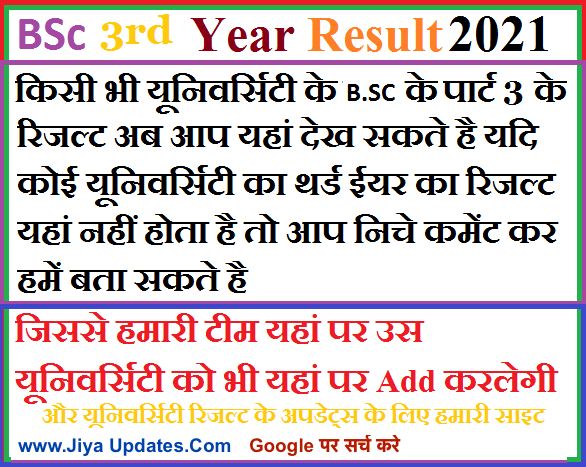 bsc-3rd-year-result-2021