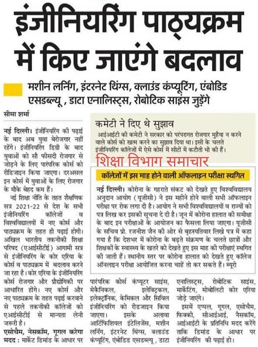 New Education Policy For B.Tech Course