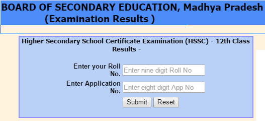 www.mpbse.nic.in 2021 Result 12th Class Check