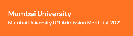 Mumbai University First Merit List 2021 Direct Link