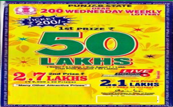 Punjab State Dear 200 Wednesday Weekly Lottery Result