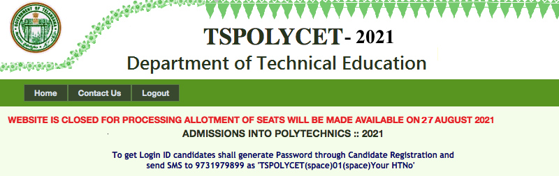 TS Polycet 2nd Phase Seat Allotment 2021