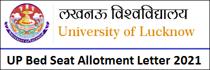UP Bed Allotment Letter 2021