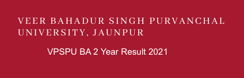 VBSPU BA 2nd Year Result 2021